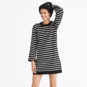 Madewell Stripped Sweater Dress 100% Merino Wool